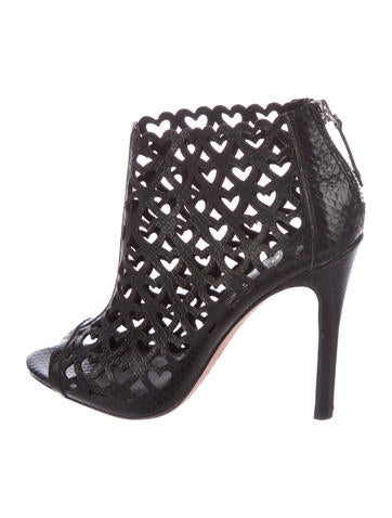 discount from china Alice + Olivia Embossed Cutout Booties amazon cheap online GZRVq9