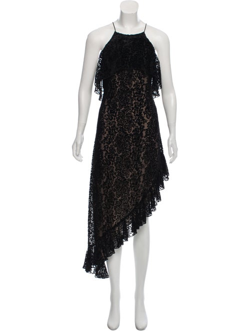 Alice + Olivia Devore Maxi Dress Black