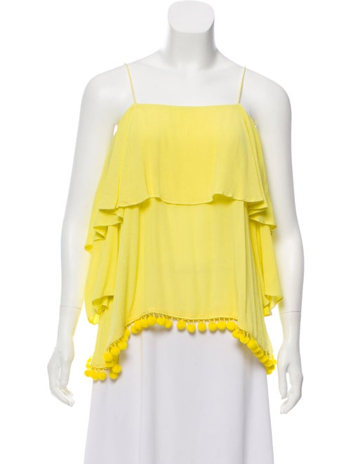 Alice + Olivia Off-The-Shoulder Blouse Yellow