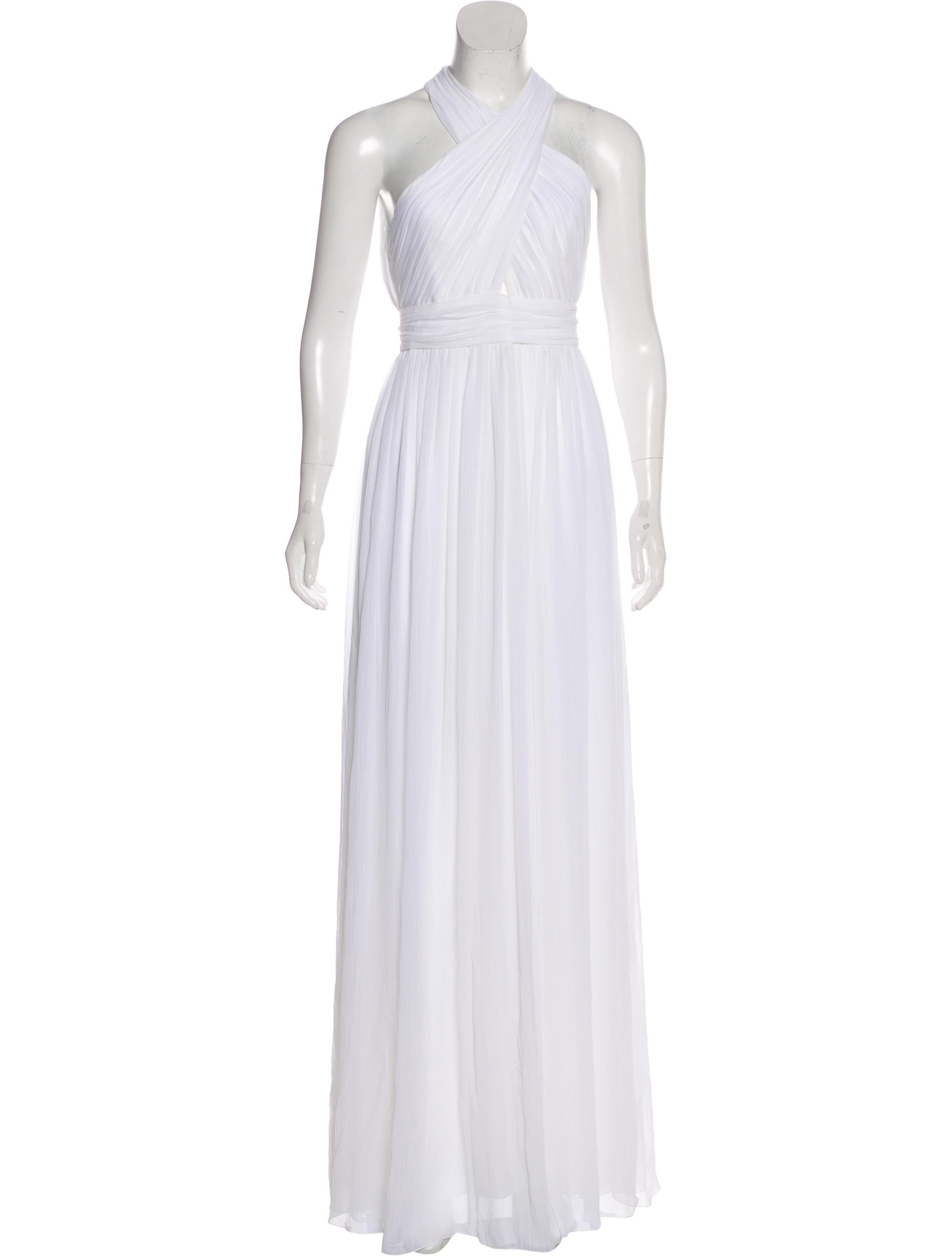 Alice + Olivia Ruched Evening Gown - Clothing - WAO78228 | The RealReal
