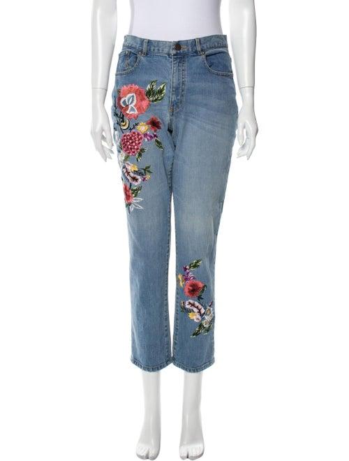 Ao.la Mid-Rise Straight Leg Jeans Blue