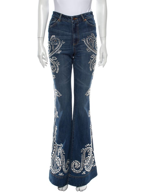 Ao.la High-Rise Flared Jeans Blue