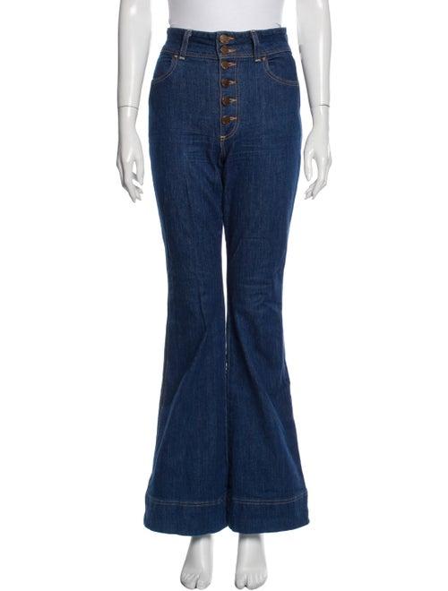 Ao.la High-Rise Flared Jeans Blue