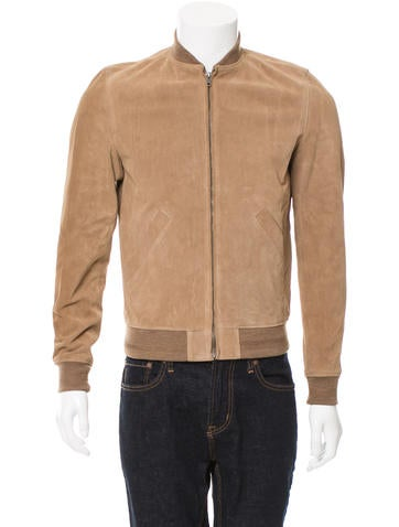 A.P.C. x Louis W. Suede Bomber Jacket None