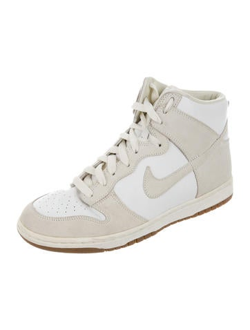 Leather & Suede High-Top Sneakers
