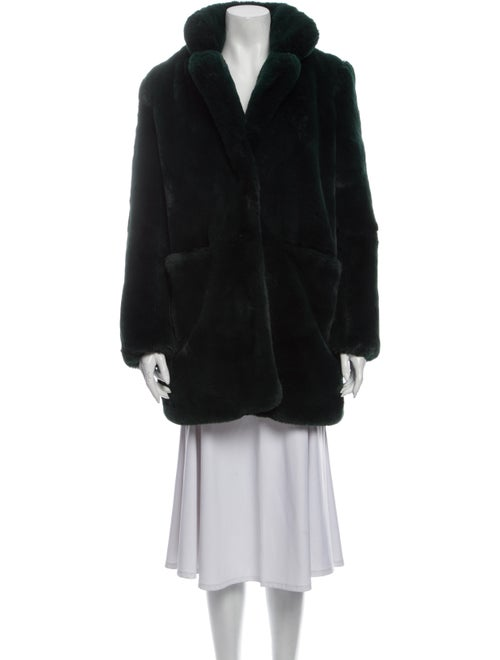 Apparis Faux Fur Coat Green