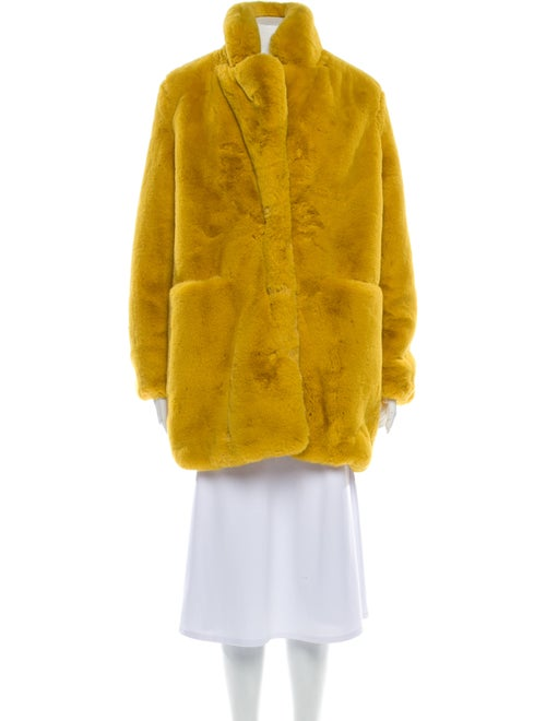 Apparis Faux Fur Coat Yellow