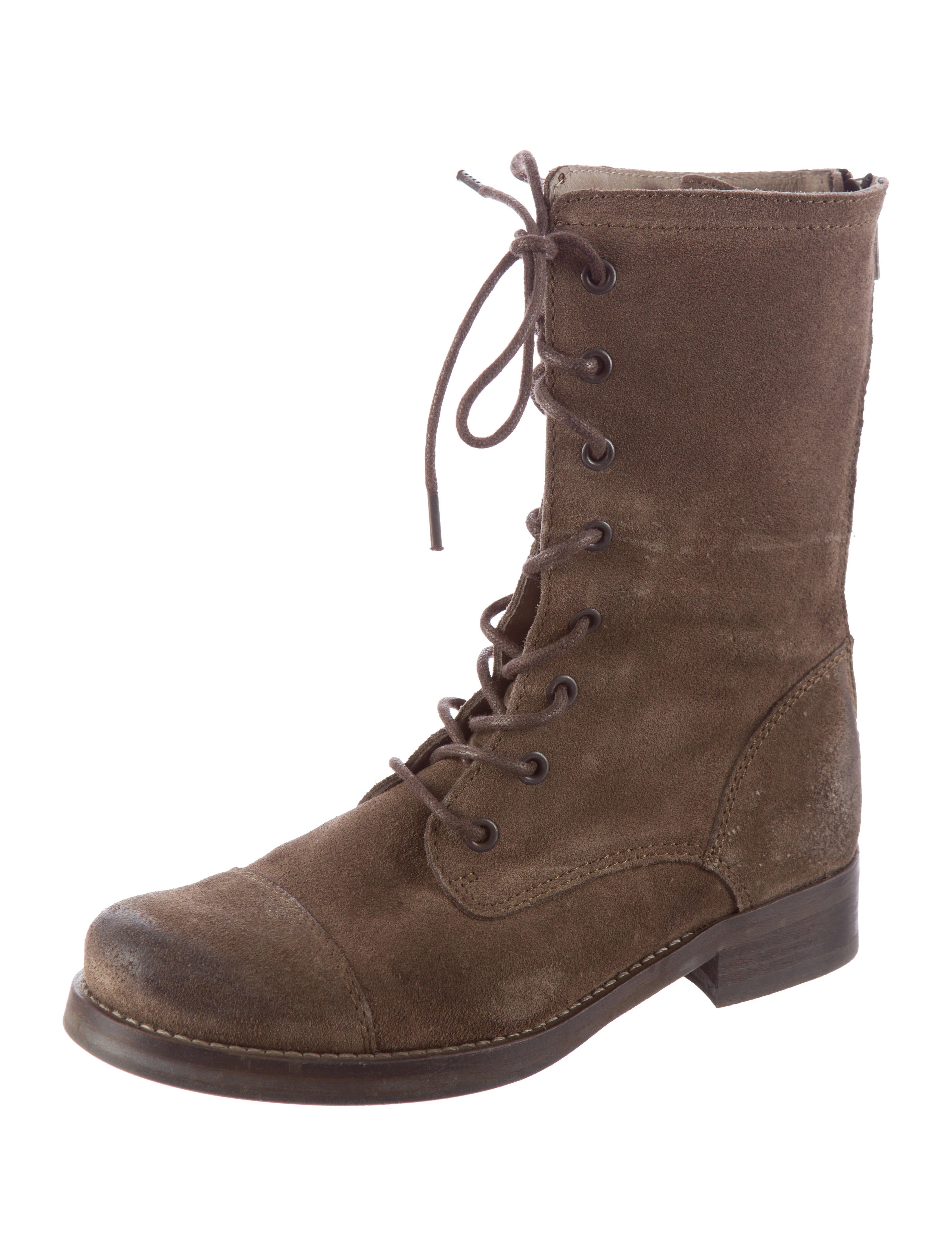 allsaints suede combat boots shoes waq20108 the realreal