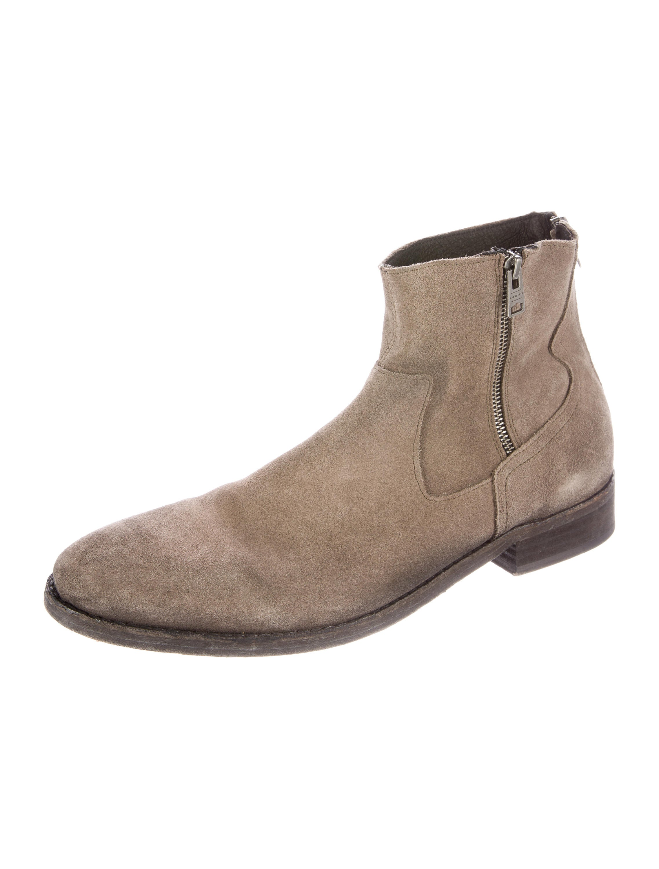 allsaints suede western ankle boots shoes waq20172