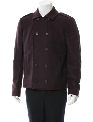 AllSaints Wool Double-Breasted Peacoat None