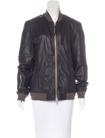 AllSaints Leather Longline Jacket None