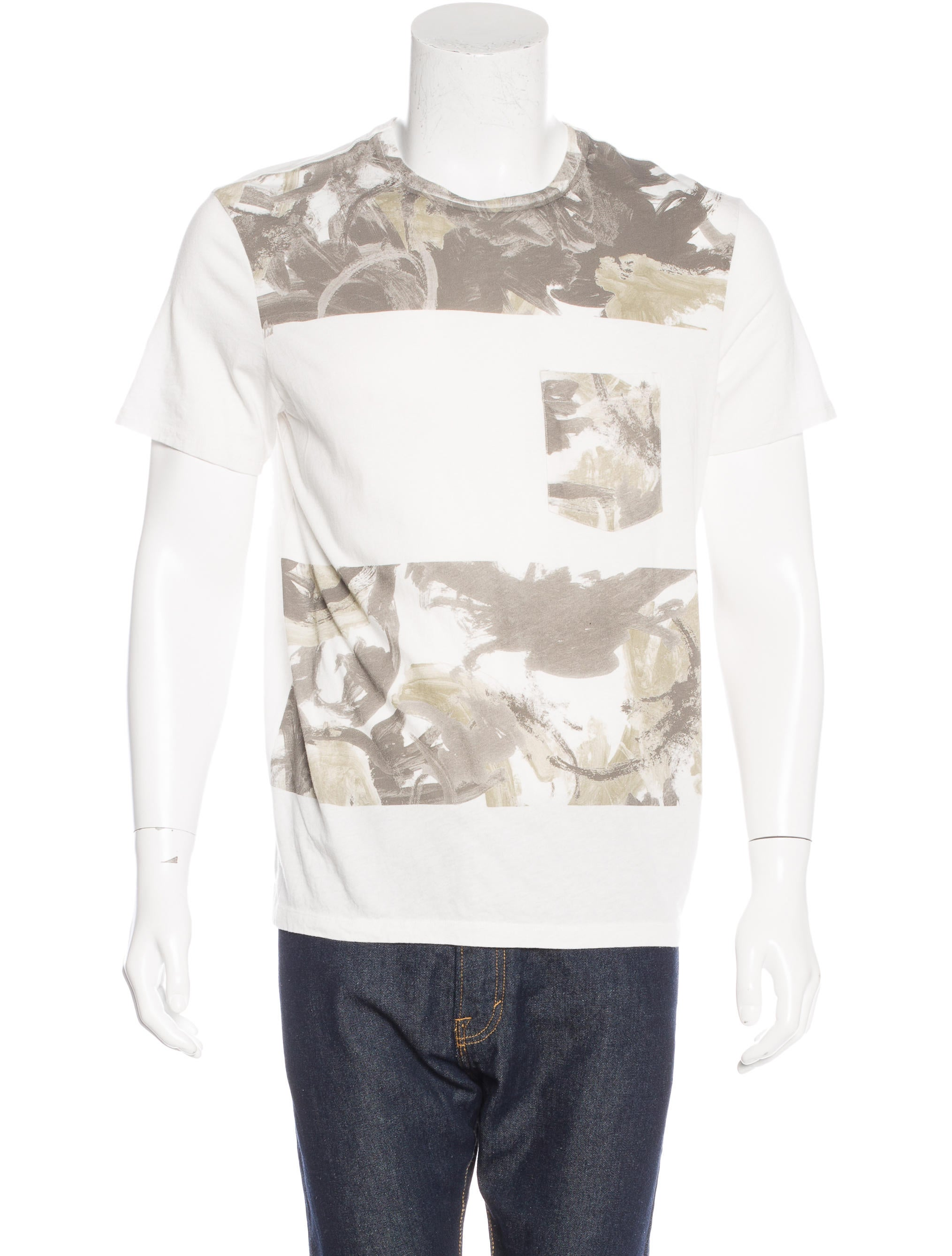 Allsaints printed patch pocket t shirt clothing for Pocket t shirt printing