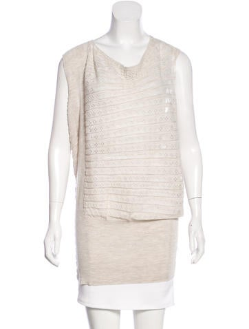 AllSaints Wool Pointelle-Accented Top w/ Tags None