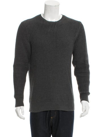 AllSaints Waffle-Knit Scoop Neck Sweater None