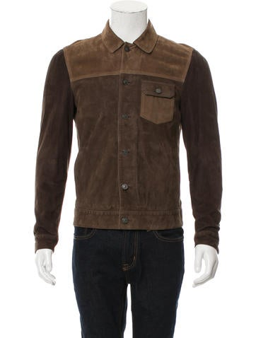 AllSaints Suede Two-Tone Jacket None