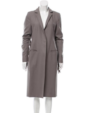 AllSaints Fringe-Accented Wool Coat None