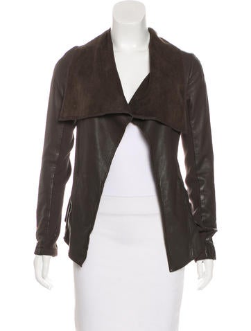 AllSaints Leather Asymmetrical Jacket None