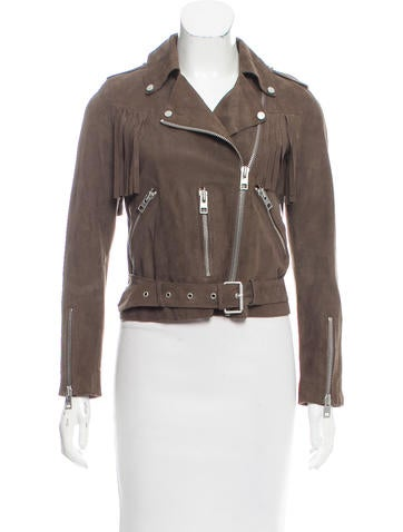 AllSaints Fringed Suede Jacket None