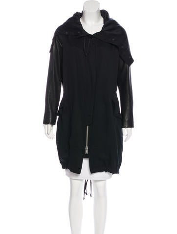AllSaints Hooded Long Coat None