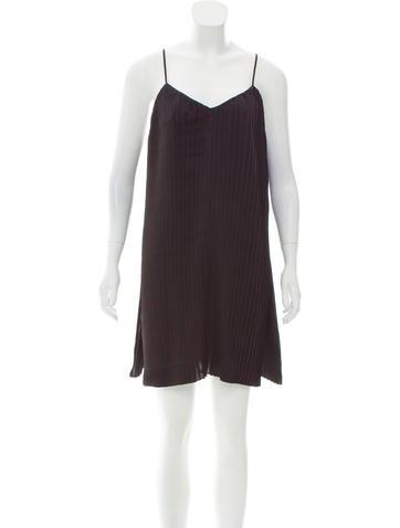 AllSaints Pleated Mini Dress None