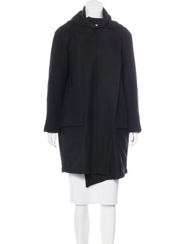 AllSaints Hooded Wool Coat None