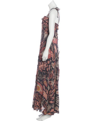 Frayed Silk Dress