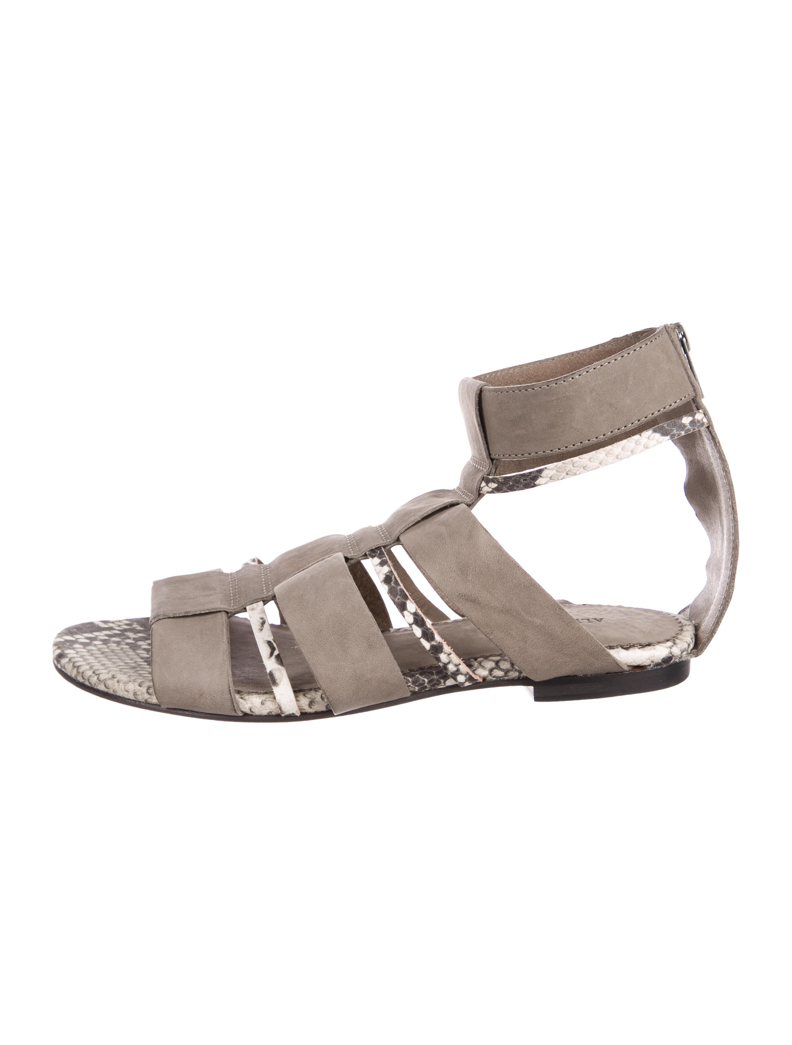 cheap pre order AllSaints Phoenix Suede Sandals buy cheap deals ijMDMx4so