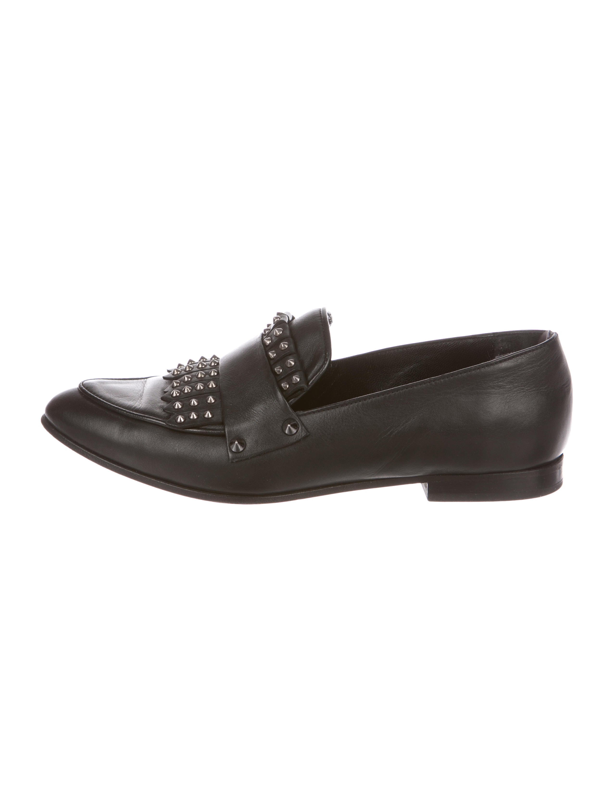 free shipping fashion Style AllSaints Studded Pointed-Toe Loafers outlet where can you find cheap Inexpensive 4a8ATHi