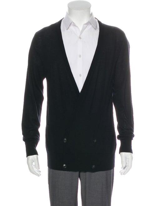 AllSaints Weir Merino Wool Cardigan Black