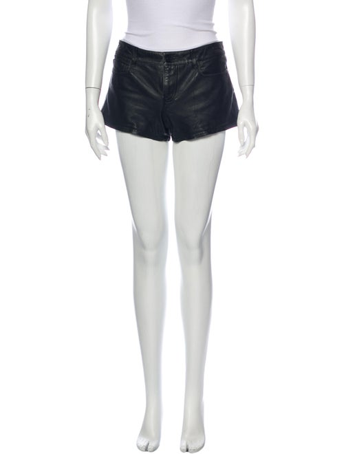 AllSaints Leather Mini Shorts Black