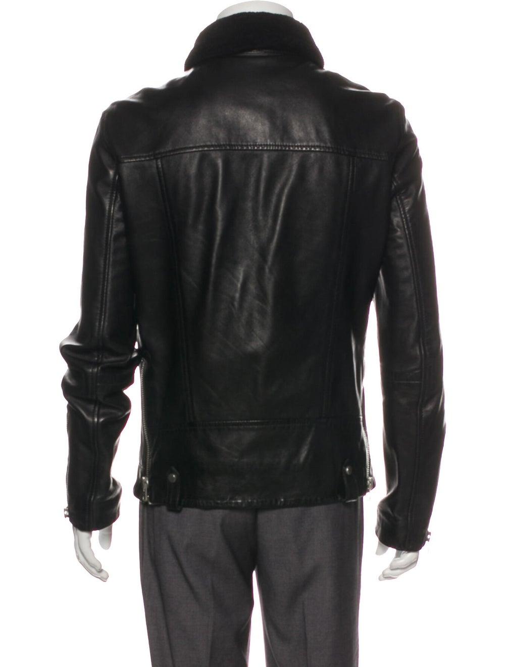 AllSaints Prospect Leather Moto Jacket Black - image 3
