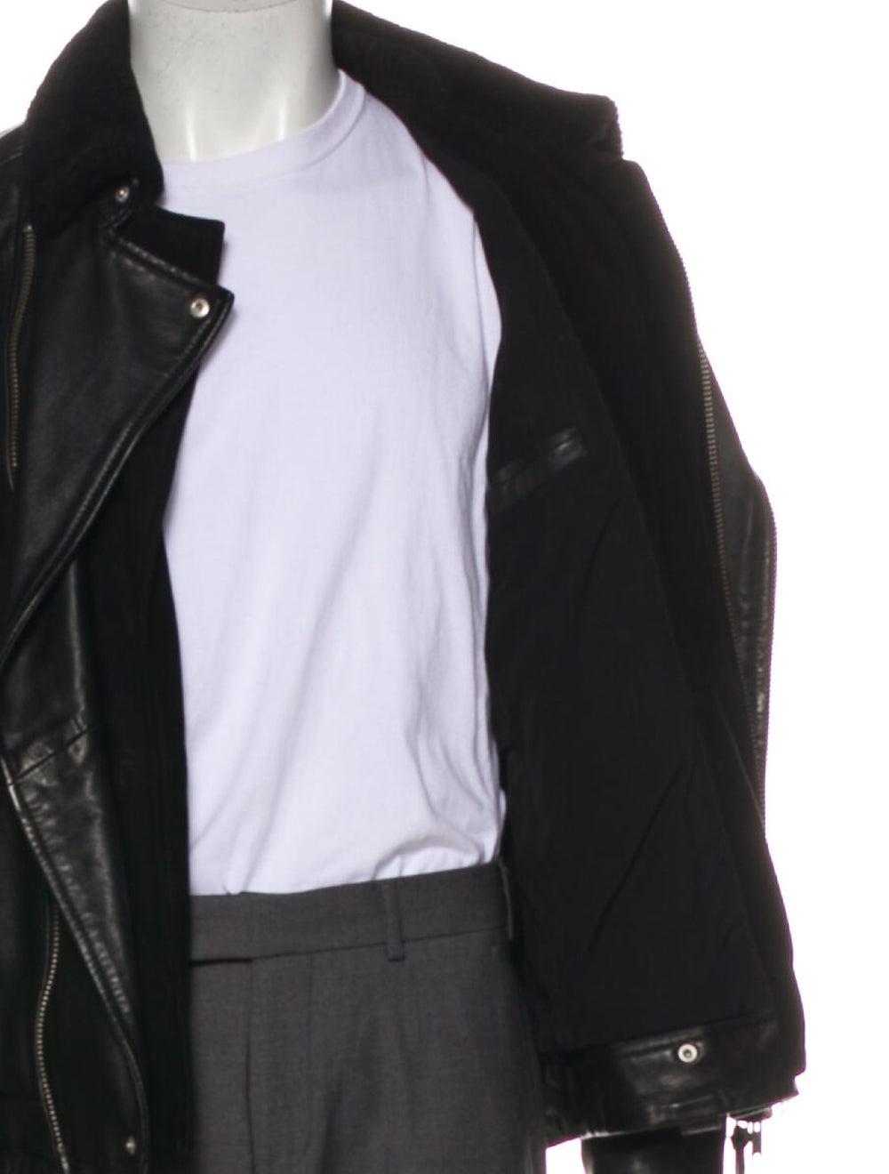 AllSaints Prospect Leather Moto Jacket Black - image 5