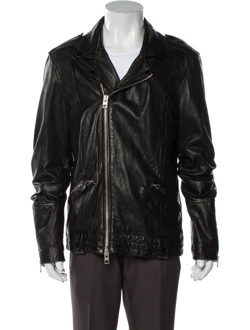AllSaints Leather Moto Jacket Black