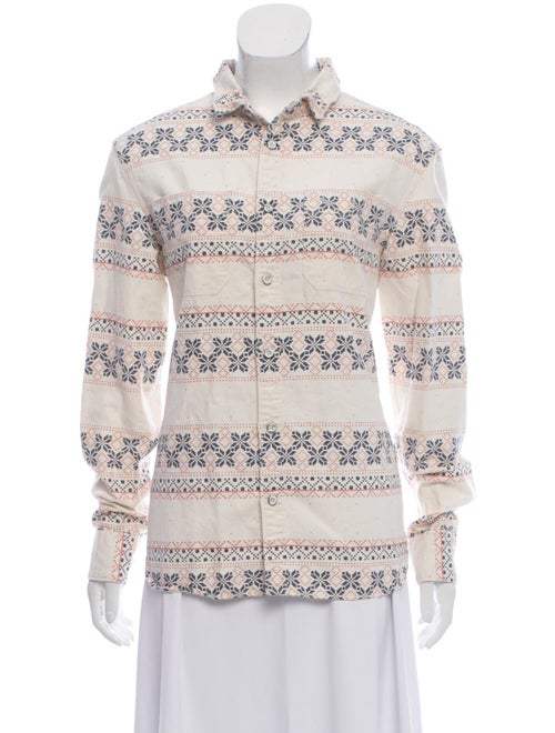 AllSaints Linen Button-Up Top White - image 1