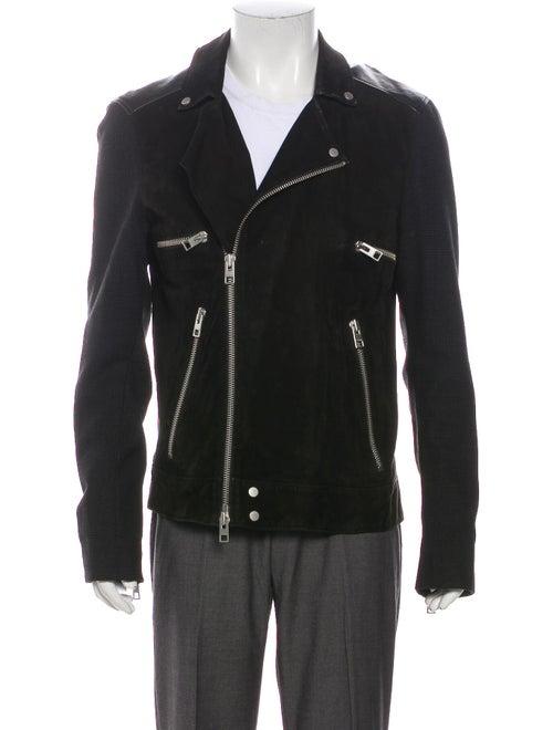 AllSaints Suede Moto Jacket Black