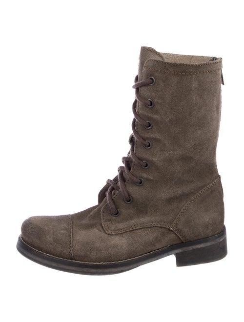 AllSaints Suede Combat Boots