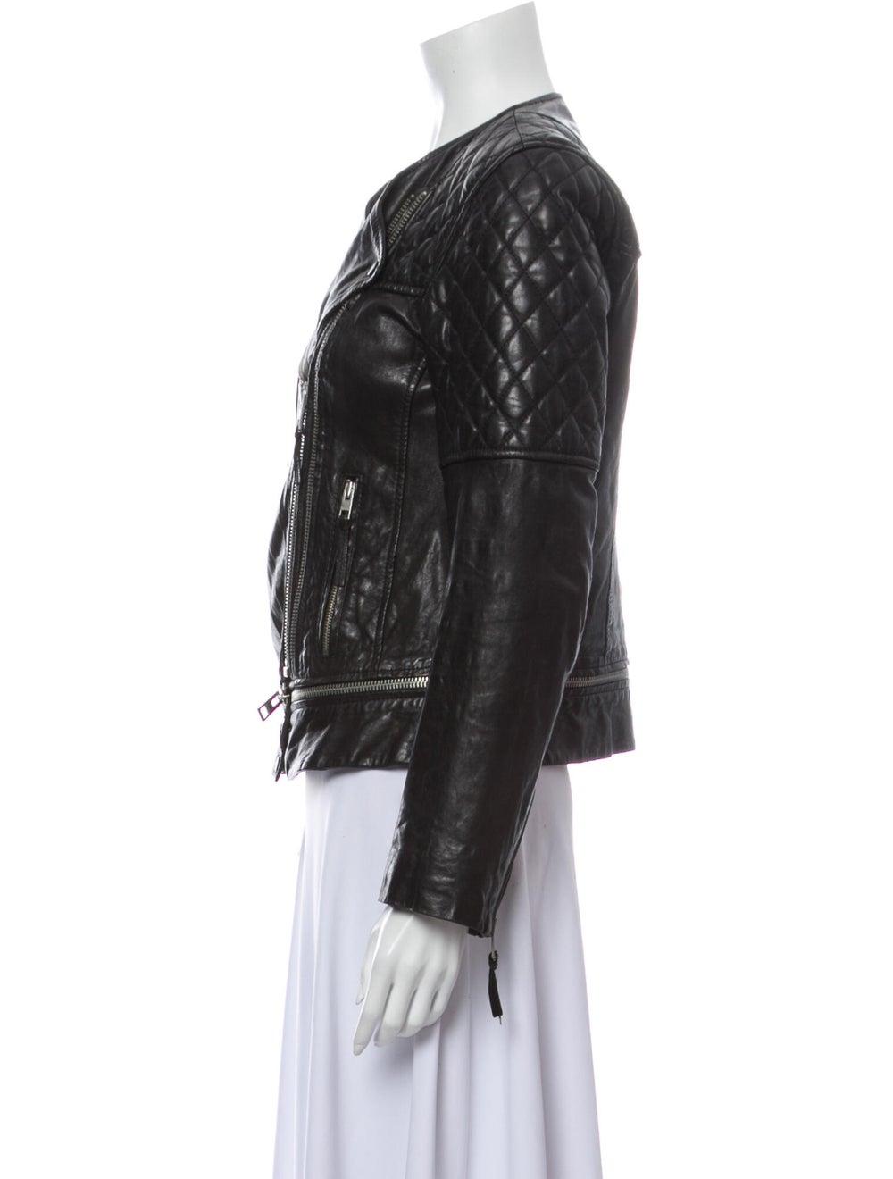 AllSaints Leather Biker Jacket Black - image 2
