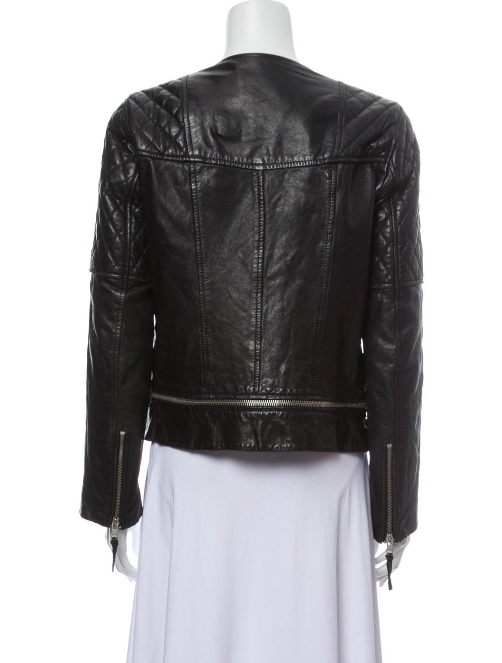 AllSaints Leather Biker Jacket Black - image 3