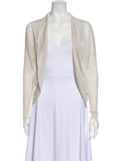 AllSaints Open Front Sweater White