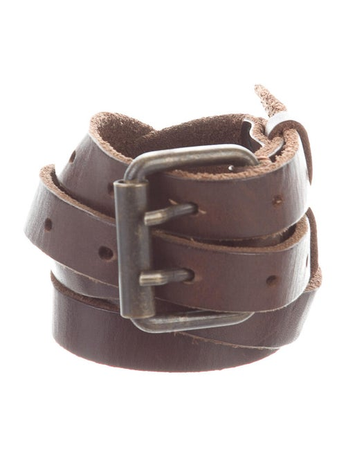 AllSaints Distressed Leather Belt brown