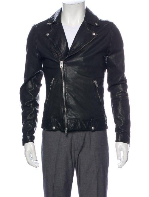 AllSaints Shearling Moto Jacket Black