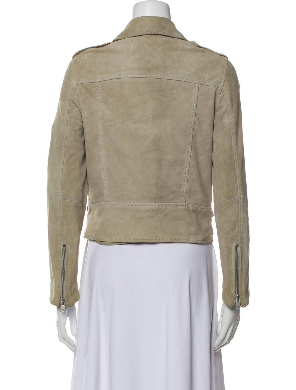 AllSaints Goat Leather Biker Jacket - image 3