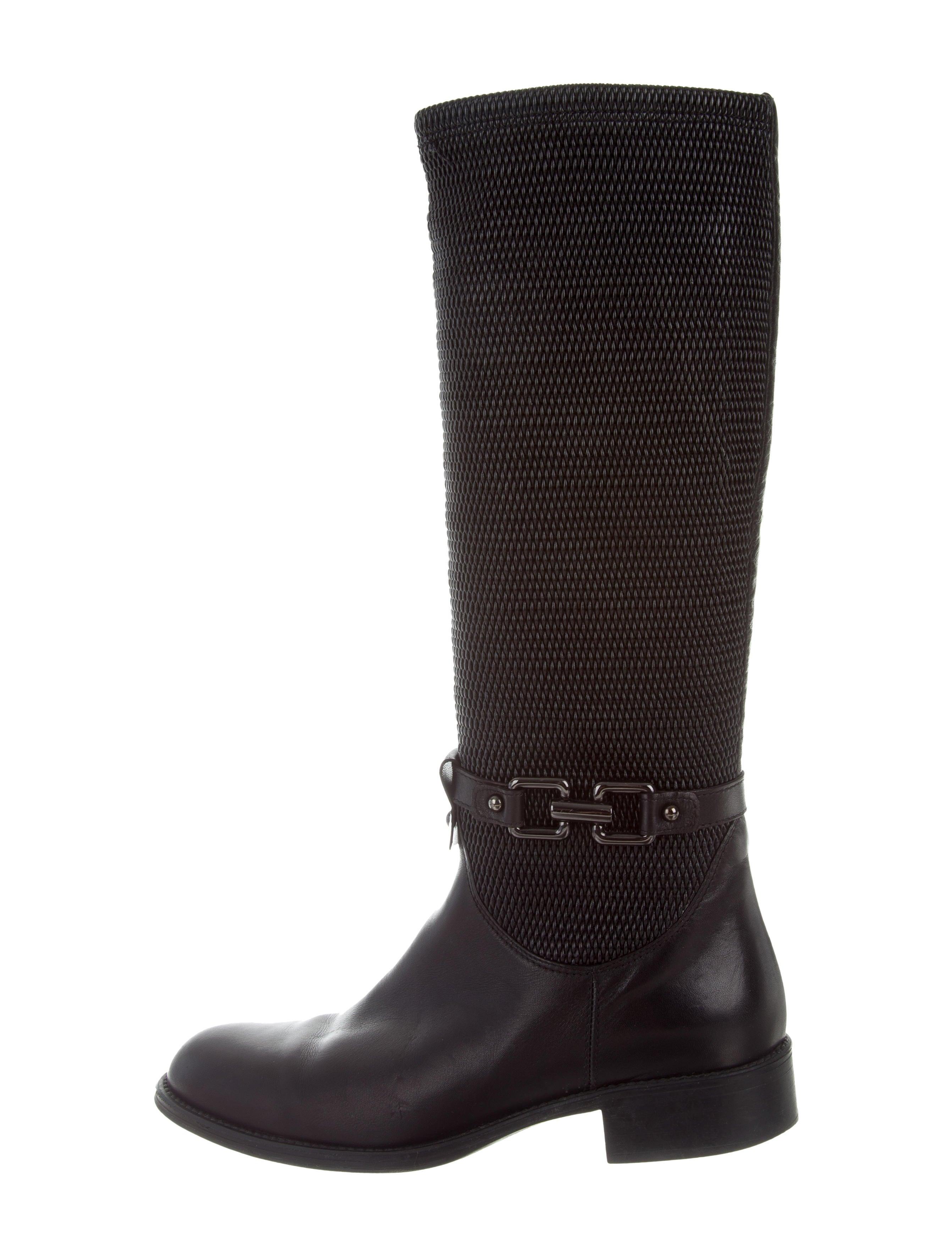 aquatalia leather knee high boots shoes waqtl20297