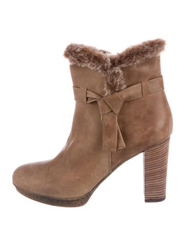 sale largest supplier 100% authentic for sale Aquatalia Shearling-Trimmed Round-Toe Ankle Boots best sale cheap online cheap sale best really cheap online HVT1Gb