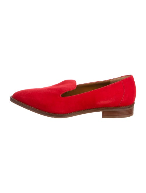 Suede Pointed Toe Loafers by Aquatalia