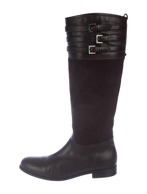 Aquatalia Leather Knee-High Boots brown