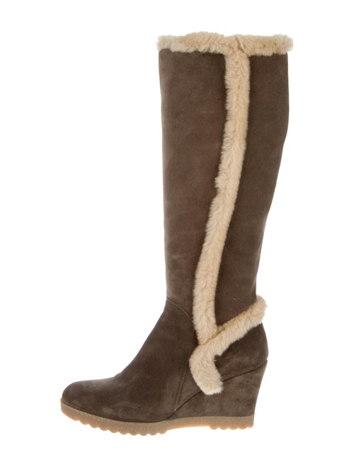 Aquatalia Suede Knee-High Boots Brown