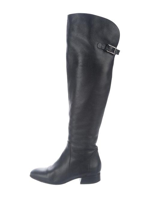 Aquatalia Leather Over-the-Knee Boots Black