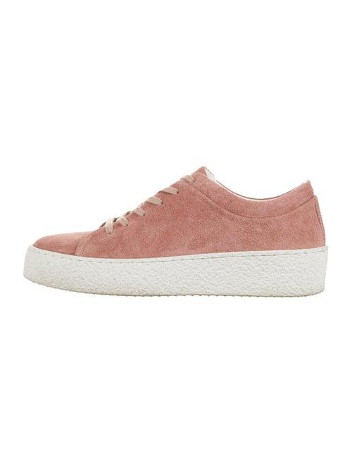 Aquatalia Suede Platform Sneakers Pink