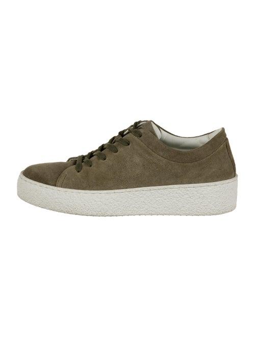 Aquatalia Suede Platform Sneakers Olive